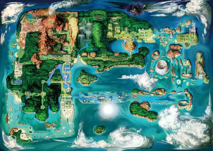 pokemon soulsilver map